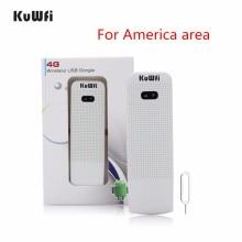 цена на KuWfi Unlocked 4G Wifi Router USB Wireless WIFI Modem LTE USB Network Hotspot Dongle Support USA/CA/Mexico/Argentina/Chile/Peru