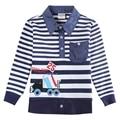 Bebé ropa de los muchachos camisetas de la novedad novatx niños bordado de la ropa da vuelta-abajo de manga larga bobo choses niños camisetas 5832a