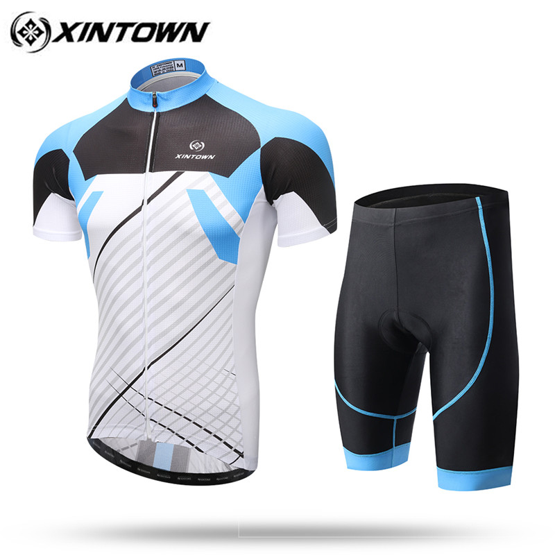 153028744 XINTOWN Cycling Clothing Bike jersey Quick Dry Mens Bicycle clothes summer team  Cycling Jerseys gel bike shorts Ropa Ciclismo -in Cycling Sets from Sports  ...