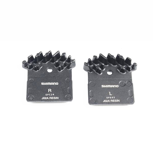Shimano J02A Resin ICE Cooling Fin Disc Brake Pads for SLX M666, M675, Deore XT M785, XTR M985, M988 & Alfine M8000 & M9000