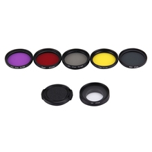 37 mm Action Camera Proffesional Filter Color UV Lens Filter Screw Mount for Xiaomi Yi Gopro Hero 3/ 3+ Canon Nikon DSLR Camera
