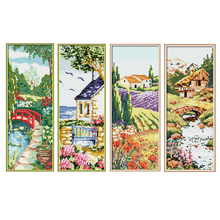 Joy Sunday Four Seasons Diamond Embroidery Landscape Icons Picture of Rhinestones 5D Painting Full Square Mosaic