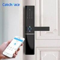 Биометрический Электронный Отпечаток пальца дверной замок Kyeless Умный Цифровой безопасный WiFi приложение Bluetooth, отпечаток пальца Замок