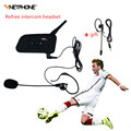 Hot Soccer Refree Bluetooth Intercom Headset Vnetphone V4C Mini Wireless BT Interphone with FM for 4Users Talk at the Same Time
