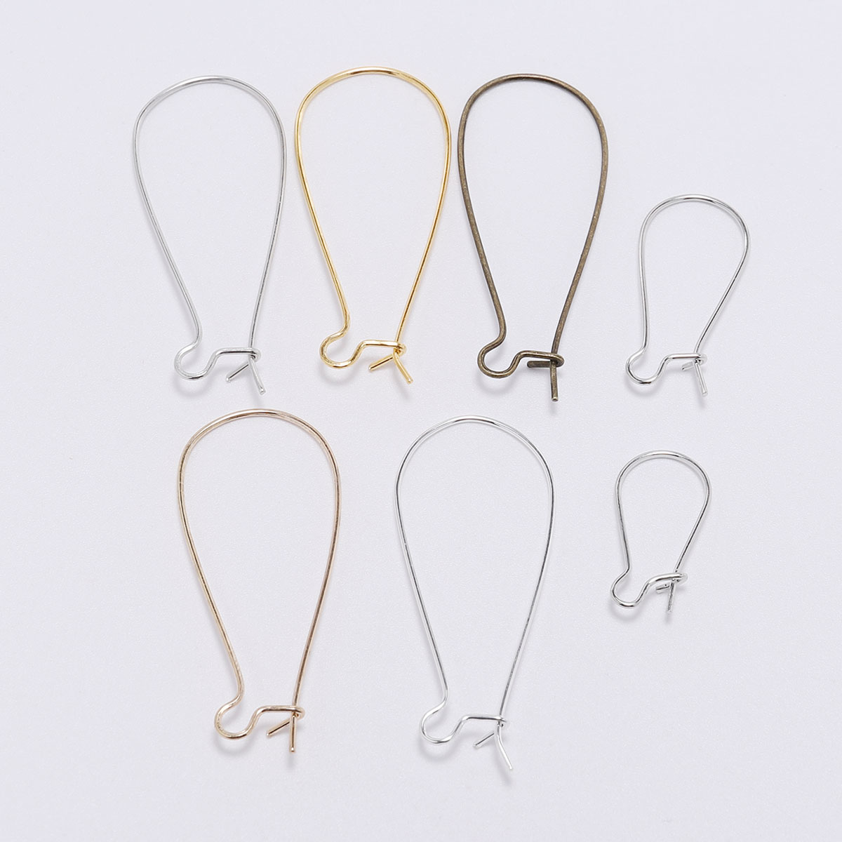50pcs/lot French Earring Loop Hoops Ear Wire Hook For Jewelry Making Findings DIY Earrings Settings Base Accessories Supplies(China)