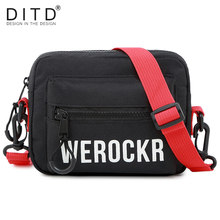 DITD 2019 Shoulder Outdoor Running Sport Bag multi-function Flap bag Cotton Shoulder Bag Hip Hop Satchel Suitable Unisex(China)