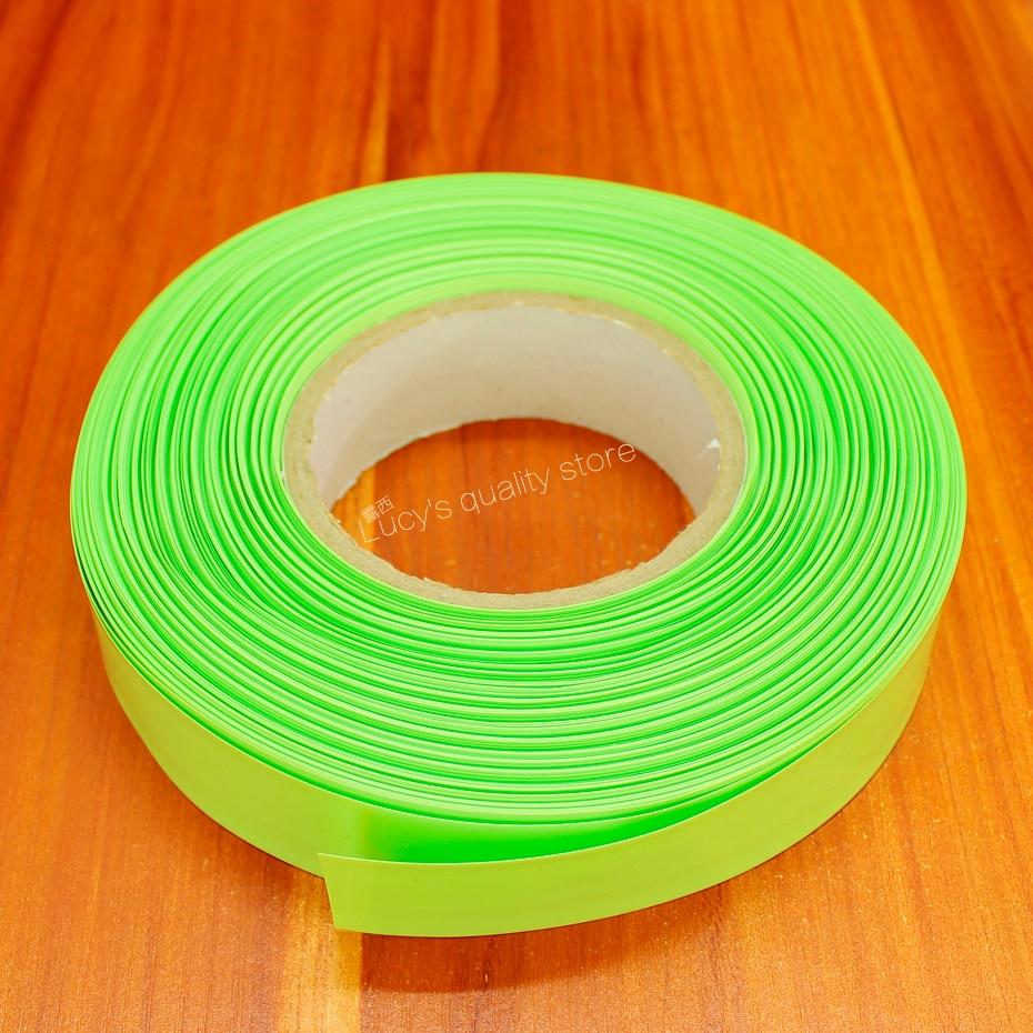 Купить с кэшбэком 10m/lot Fruit green 18650 lithium battery PVC heat shrinkable casing tube polymer battery PVC heat shrinkable tube film