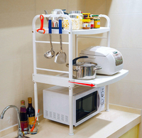 Vertical shelf Microwave oven rack shelf Two electrical layer