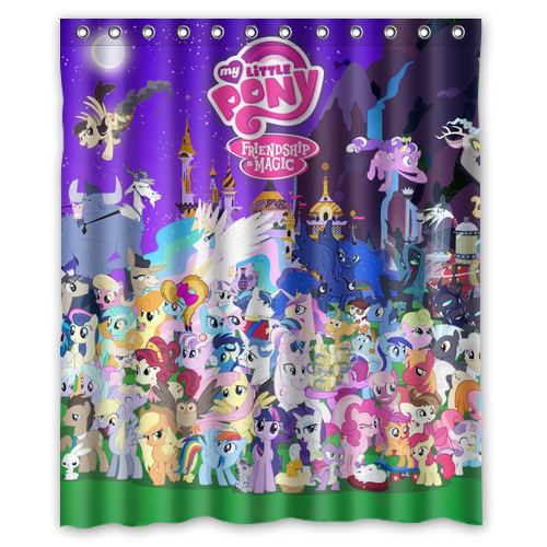 Nice Bathroom Products Shower Curtains,My Little Pony Shower Curtain 60 X 72  Inches High Quality