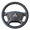 Steering Wheel Leather Covers Case for Mitsubishi PAJERO Genuine Leather DIY Hand-stitched Car Styling Covers Spesific