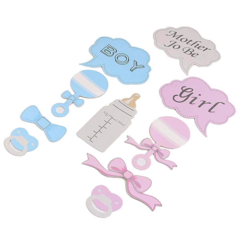 new party gifts photo booth props diy bottle baby shower boy girl birthday enclosed stick frame