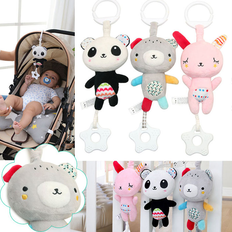 Baby Stroller Accessories Rattles Mobiles Trolley Educational Toys For Kids Plush Cars Hanging Bed Bells Carriage Dolls I0008