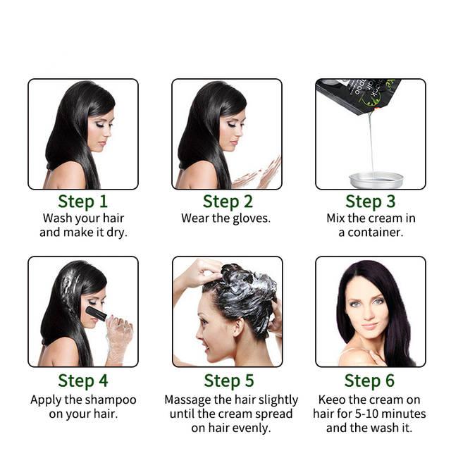Online Shop 10 çanta Kalıcı Siyah Saç Boyası Renk Saç Kararma