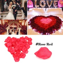 5000pcs/lot Atificial Flowers Polyester Wedding Decorations Rose Petals patal Flower Party