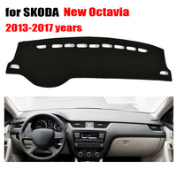 Car Dashboard Covers Mat For SKODA New Octavia 2013 2017 Left Hand Drive Dashmat Pad Dash