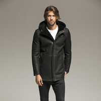 European Size High Quality Super Warm Genuine Sheep Leather Jacket Mens Big Size B3 Shearling Bomber