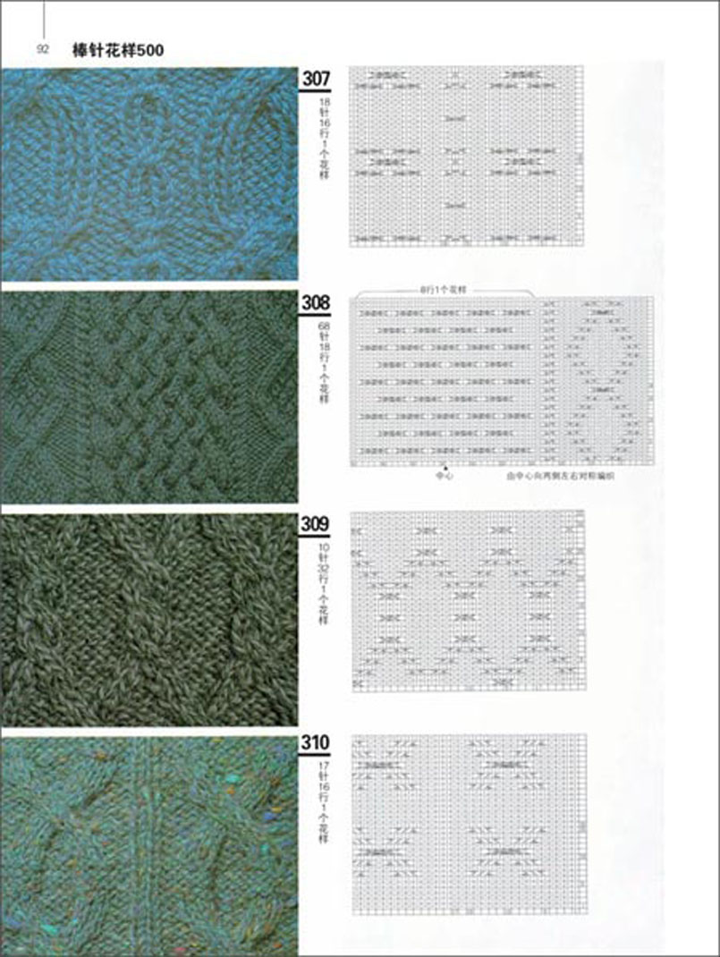 Japanese Knitting Patterns Book with 500 different pattern In ...