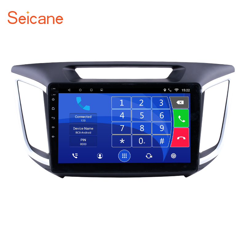 Seicane HD 1024*600 10.1 inch Android 6.0 Car Radio GPS Navi Stereo Unit Player for Hyundai IX25 With Quad Core Bluetooth WIFI