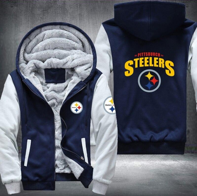 Dropshipping USA Plus EU Size Steelers Team Men s Women s Printing Pattern  Thicken Fleece Zipper Hoodies Sweatshirts Coat Jacket-in Hoodies    Sweatshirts ... f3ccef394