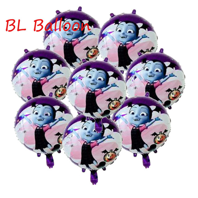 Wholesale 8pcs Lot Vampirina Balloons Happy Birthday Decorations Toys For Kids Mylar Balloon