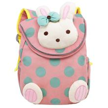 Cartoon Cute Little 3D Rabbit Plush Backpack Children Schoolbags Animals Kids Rucksack for