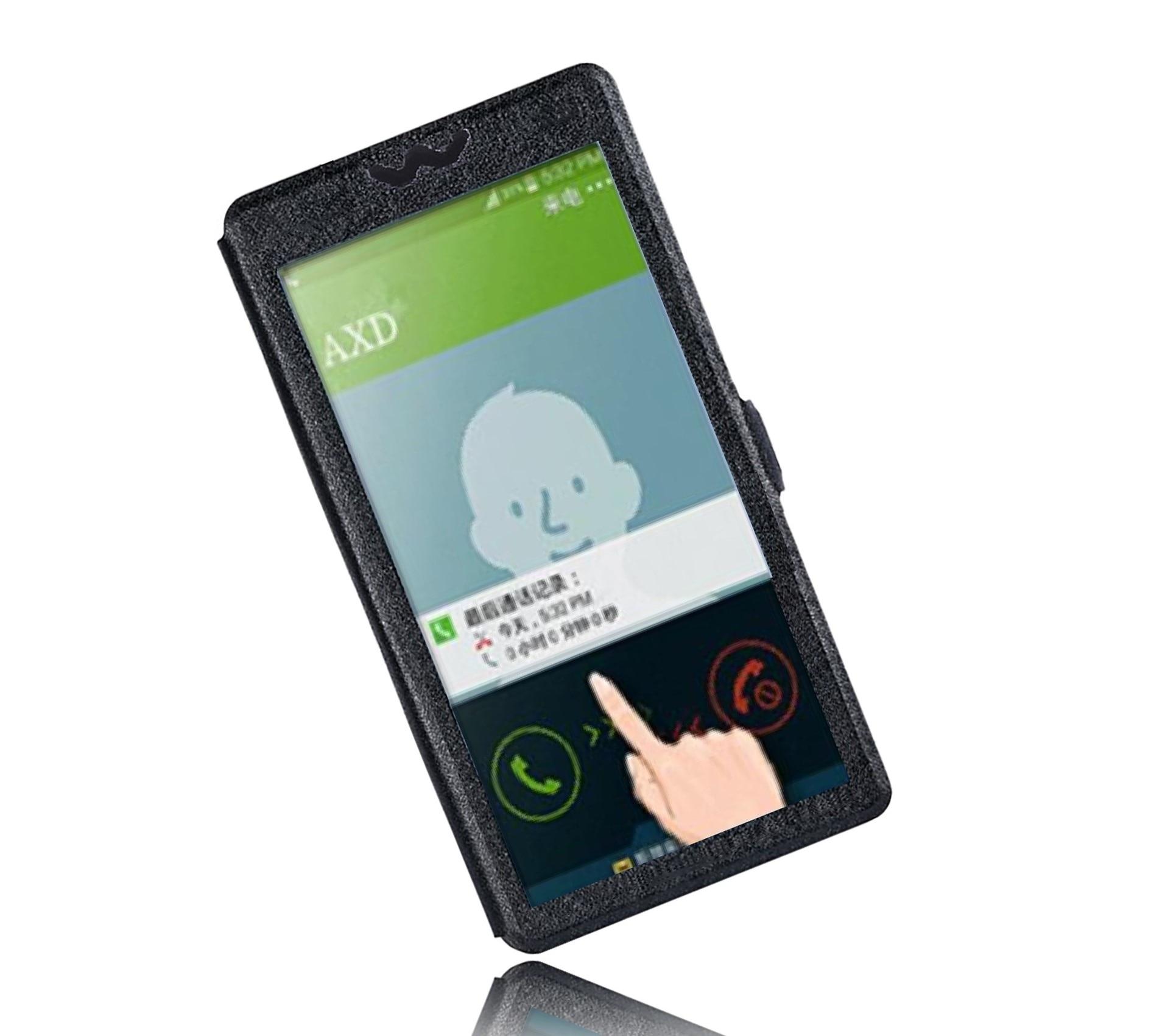 Luxury PU Leather For ASUS G550KL ZB551KL Case Full View Windows Stand Phone Flip For ASUS ZenFone Go TV (G550KL)/(ZB551KL)