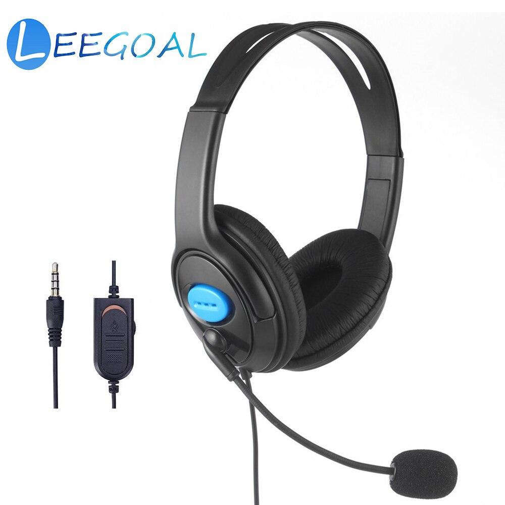 PS4 Verdrahtete Kopfhörer Live Chat Gaming Headset Mic Lautstärke Einstellbar Stirnband für Laptop Tablet PC Gamer PS4 Dünne/Pro controller