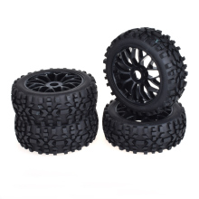 купить 4pcs 17mm Hub Wheel Rim & Tires Tyre for 1/8 Off-Road RC Car Buggy KYOSHO HPI LOSI HSP  по цене 1627.63 рублей