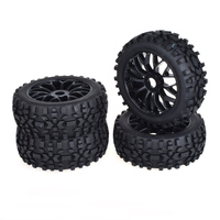 4pcs 17mm Hub Wheel Rim & Tires Tyre for 1/8 Off Road RC Car Buggy KYOSHO HPI LOSI HSP