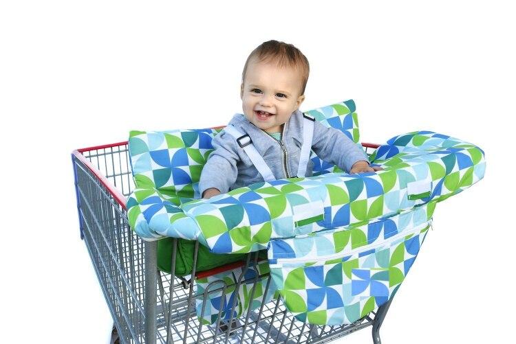 Costco Размер тележка для продуктов чехол для детского сидения, Ресторан высокий стул-мягкие вставки Держатель для мальчиков, девочек, младенцев - Цвет: with pillow