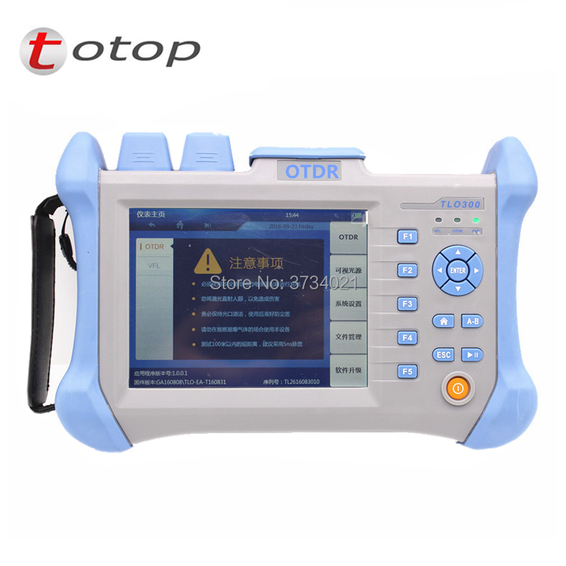 Handheld OTDR TLO-300 OTDR 1310/1550nm 30/32dB,Integrated VF,Touch Screen Optical Time Domain Reflectometer VFLHandheld OTDR TLO-300 OTDR 1310/1550nm 30/32dB,Integrated VF,Touch Screen Optical Time Domain Reflectometer VFL