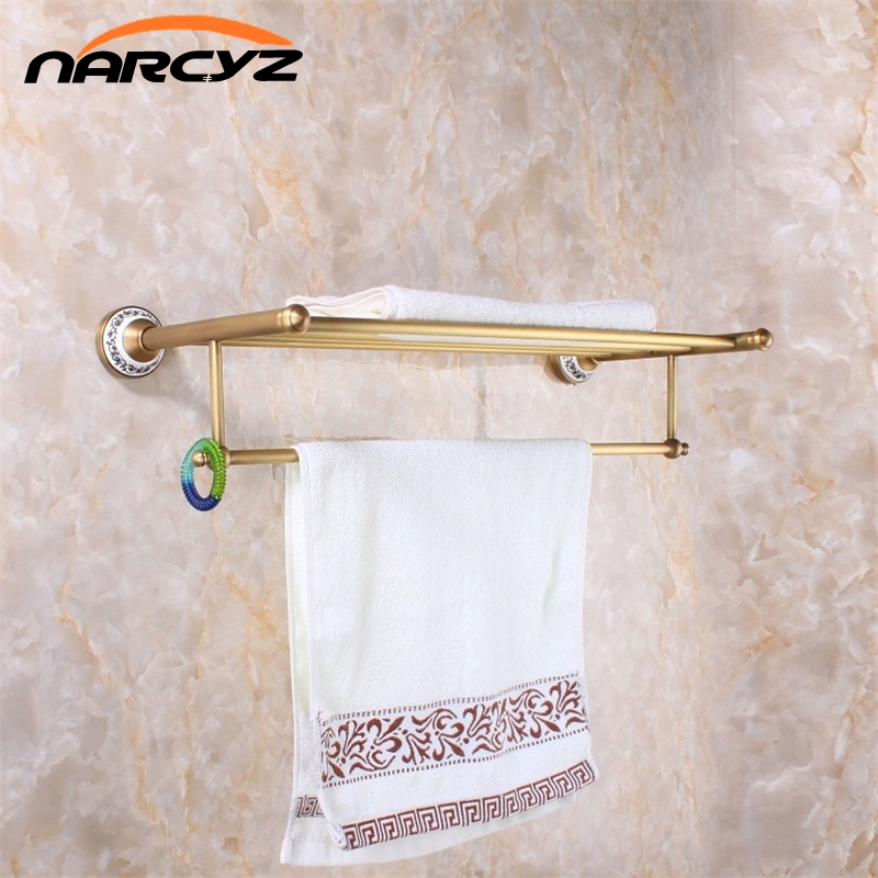 New Arrival Antique Copper With Ceramic Towel Rod Rack Shelf Towel Rack Fashion Bathroom Accessories Luxury Bath Towel 9066K new arrival antique copper with ceramic towel rod rack shelf towel rack fashion bathroom accessories luxury bath towel hj 1812 page 7