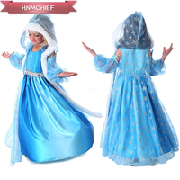 2017 New High Quality Girl Dresses Princess Children Clothing Anna Elsa Cosplay Costume Kid S Party