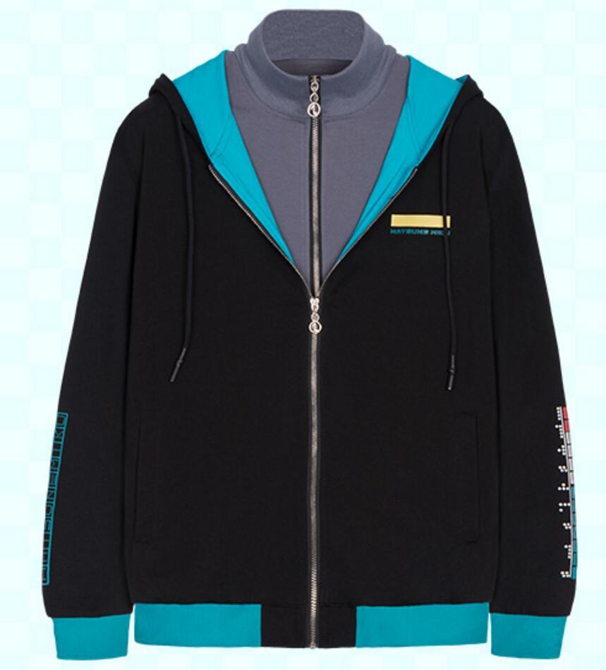 New Design Vocaloid miku Black Rock Shooter thick winter jacket hoodie Luminous coat