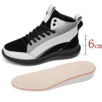 Plantilla Hombre Elevador Zapatos Aumento 6 Elevadores Para Altos De Negocios Altura Cm OXkiPuZ