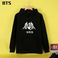 EXO Wu Kris BTS Koreański Kpop Fajne Xiumin Dres Bluza Kobiety Casual Streetwear Harajuku Mody Luźny Sweter Z Kapturem Bluza