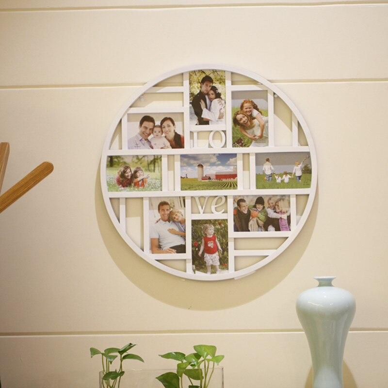 Nouveauté love combinaison une pièce photo cadre photos de mur cercle mur photo cadre décor maison mariage homeation