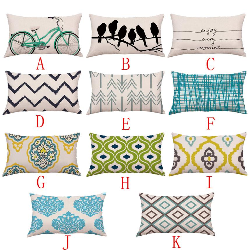 Sofá cama decoración del hogar, cojín de Festival, cojín decorativo cuadrado # Z