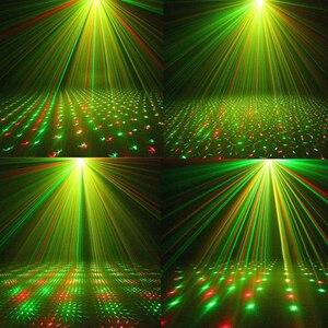 Image 5 - LED جهاز عرض ليزر أضواء الصوت المنشط السيارات فلاش Led أضواء للمسرح زينة عيد الميلاد ليزر ديسكو إضاءة نادي الحفلات