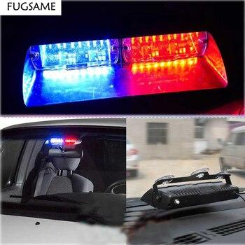 FUGSAME High Power 96W S2  Car Flash Led Strobe Light Security Fireman Police Window Shield Warning Light For 12V Cars