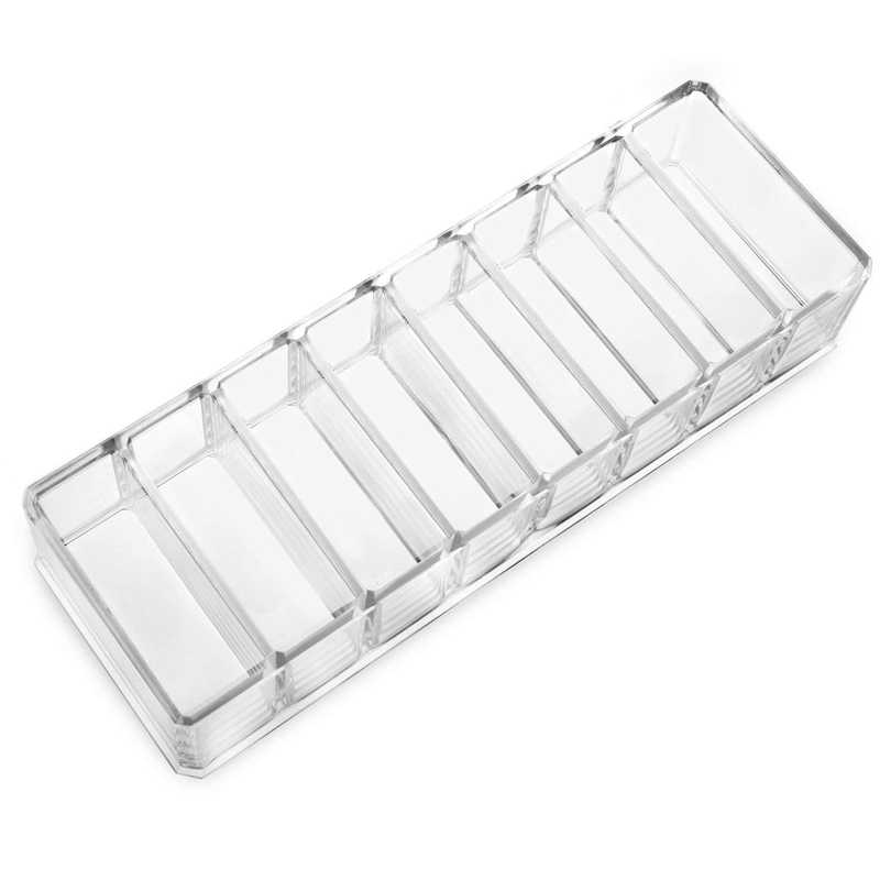New Clear Acrylic Makeup Organizer Cosmetic Storage Box Makeup Compact Powder Holder Eyeshadow Organizer Jewelry Cosmetic Box
