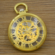 new fashion good quality vintage retro antique bronze father men gift steampunk mechanical pocket watch hour long chain