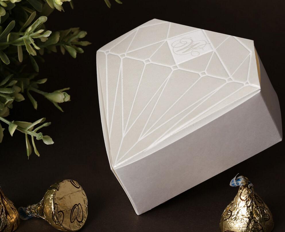 Diamond Wedding Gift Ideas: Diamond Favor Candy Box For Wedding Marriage Engagement