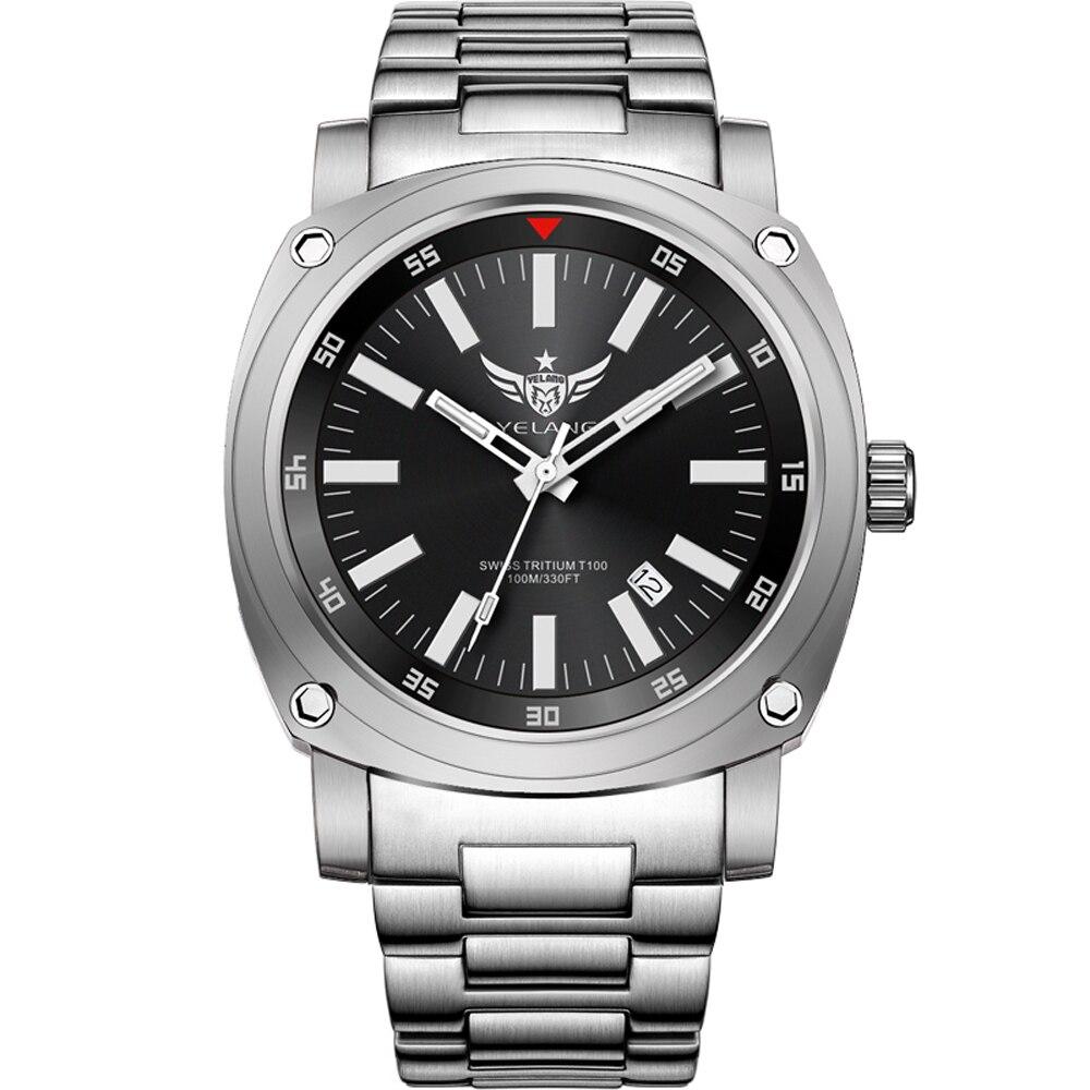 где купить YELANG V3.3 plus super bright tritium gas luminous mens sapphire mirror men business titanium alloy automatic mechanical watch по лучшей цене