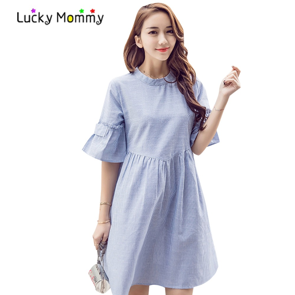 Maternity dress summer images braidsmaid dress cocktail dress compare prices on short sleeve pregnancy dress online shopping casual blue striped maternity dress 2017 summer ombrellifo Gallery