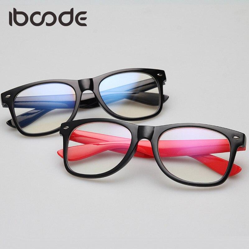 Iboode Clear Lens Glass Frame Anti Blue Ray Surfing Eye Protective Glasses Plain Glasses Men Women Student Eyeglasses Eyewear