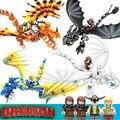 824 шт, футболка с изображением героев мультфильма «Как приручить дракона 3 lepining Беззубик, ночная фурия светильник фурия дракон, строительные...