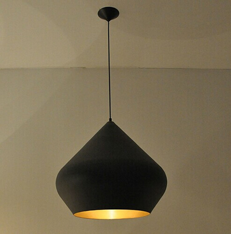 Σύγχρονη σύντομη εστιατόριο μαύρο / άσπρο LED E27 λάμπα κρεμαστό κόσμημα φωτιστικό σπίτι σπίτι διακόσμηση σαλόνι DIY αλουμινίου λαμπτήρα κρεμαστό κόσμημα με διαμάντια