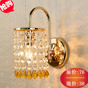 Modern brief lighting lamps fashion wall lamp ofhead syncronisation switch crystal wall lamp wall lamp brief circle stair lamp bed lighting fashion led acrylic wall lamps children s room wall lamp