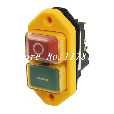 5-Pin DPST 2-Phase 2-Button Momentary Waterproof Electromagnetic Switch 230VAC 5 pin dpst 2 phase 2 button momentary waterproof electromagnetic switch 230vac